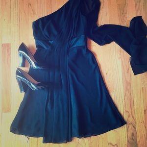 WHBM black cocktail dress